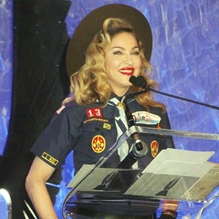 Madonna in 24th Annual GLAAD Media Awards - Madonna Presents The Vito Russo Award to Anderson Cooper