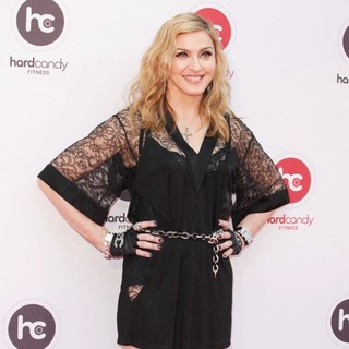 Madonna in The Launch of The Hard Candy Fitness Club