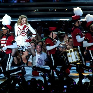 Madonna in Madonna Performs Live During Her First MDNA Concert on Her World Tour