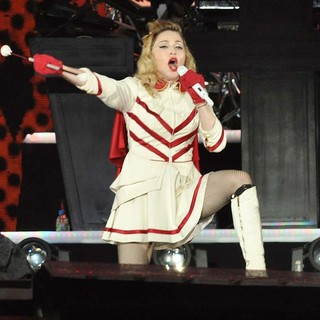 Madonna in Madonna Performing of Her MDNA World Tour