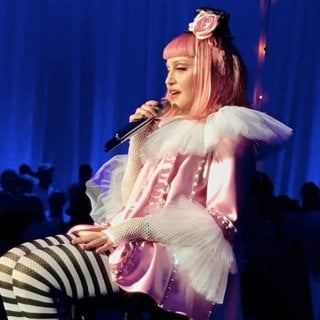 Madonna Performing During The Art Basel Miami