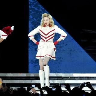 Madonna in Madonna Performing for Her MDNA World Tour