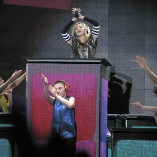 Madonna, Rocco Ritchie in Madonna Performs During Her MDNA Tour