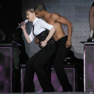Madonna, Brahim Zaibat in Madonna Performs During Her MDNA Tour
