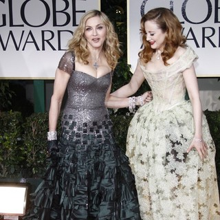 Madonna, Andrea Riseborough in The 69th Annual Golden Globe Awards - Arrivals