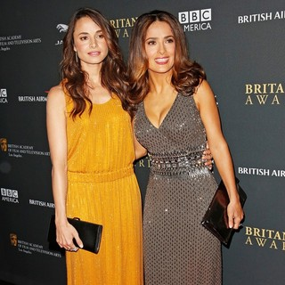 Mia Maestro, Salma Hayek in 2013 BAFTA Los Angeles Jaguar Britannia Awards Presented by BBC America - Arrivals