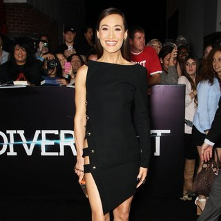 Maggie Q in Premiere of Summit Entertainment's Divergent - Red Carpet Arrivals