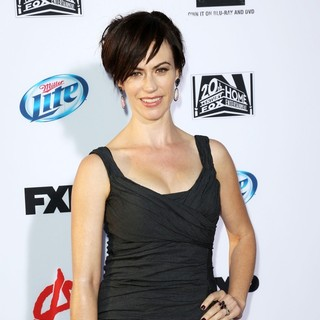 Maggie Siff in Premiere of FX's Sons of Anarchy Season Six - Arrivals