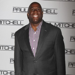 Magic Johnson in The 27th Annual Paul Mitchell Hair School Caper Event