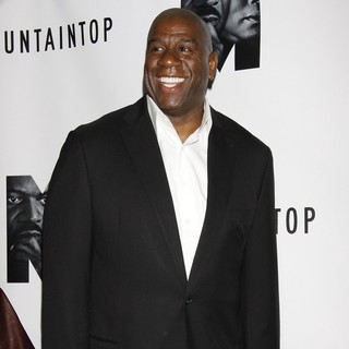 Magic Johnson in Opening Night of The Broadway Play The Mountaintop - Arrivals