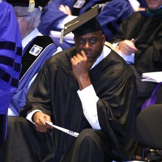 Magic Johnson in Magic Johnson Receives Honorary Doctor of Humane Letters Degrees