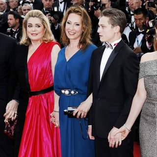 Benoit Magimel, Catherine Deneuve, Emmanuelle Bercot, Rod Paradot, Sara Forestier in 68th Annual Cannes Film Festival - Opening Ceremony - Arrivals