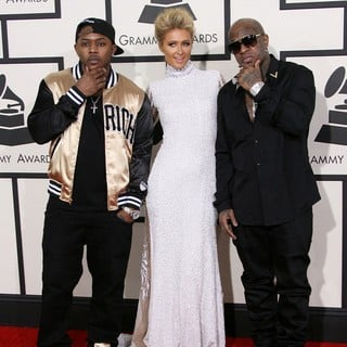 Mack Maine, Paris Hilton, Birdman in The 56th Annual GRAMMY Awards - Arrivals