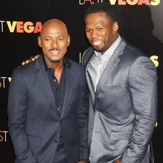 Romany Malco, 50 Cent in The Last Vegas New York Premiere