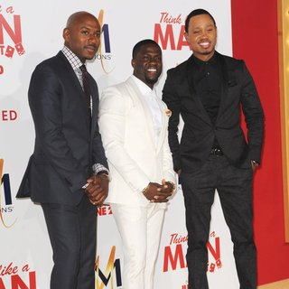 Romany Malco, Kevin Hart, Terrence J in Film Premiere of Think Like a Man Too