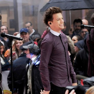 Zayn Malik, Louis Tomlinson, Harry Styles, One Direction in One Direction Performing Live on The Today Show