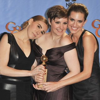 Zosia Mamet, Lena Dunham, Allison Williams in 70th Annual Golden Globe Awards - Press Room