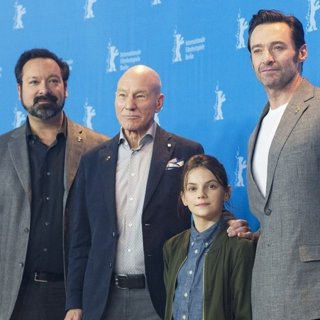 James Mangold, Patrick Stewart, Dafne Keen, Hugh Jackman-67th International Berlin Film Festival - Logan - Photocall