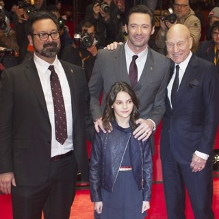 James Mangold, Dafne Keen, Hugh Jackman, Patrick Stewart-67th International Berlin Film Festival - Logan - Premiere