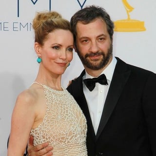 Leslie Mann, Judd Apatow in 64th Annual Primetime Emmy Awards - Arrivals
