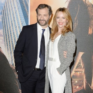 Judd Apatow, Leslie Mann in U.K. Premiere of Anchorman: The Legend Continues - Arrivals