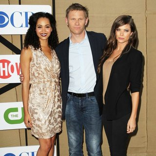 Madeleine Mantock, Mark Pellegrino, Peyton List in CW, CBS and Showtime 2013 Summer TCA Party - Arrivals