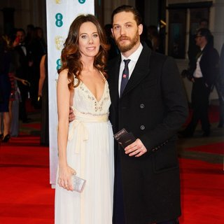 Kelly Marcel, Tom Hardy in EE British Academy Film Awards 2014 - Arrivals