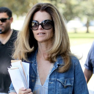 Maria Shriver in Maria Shriver Leaves A Hair Salon