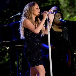 Mariah Carey in Pre-Tape A Fourth of July Television Special