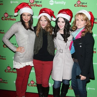 Constance Marie, Katie Leclerc, Vanessa Marano, Lea Thompson in ABC Family's 25 Days of Christmas Winter Wonderland Event