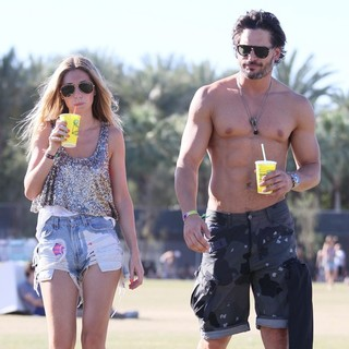Audra Marie, Joe Manganiello in Celebrities at The 2012 Coachella Valley Music and Arts Festival - Week 2 Day 2