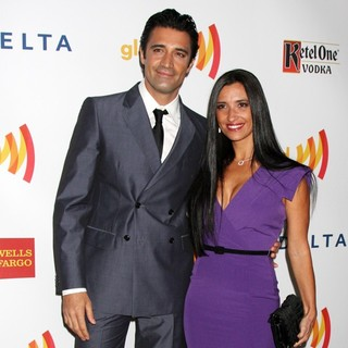 Gilles Marini, Carole Marini in The 23rd Annual GLAAD Media Awards