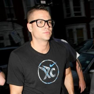 Mark Salling in Celebrities Arrive at O2 Shepherds Bush Empire Ahead of Beyonce's New Album Launch and Performance