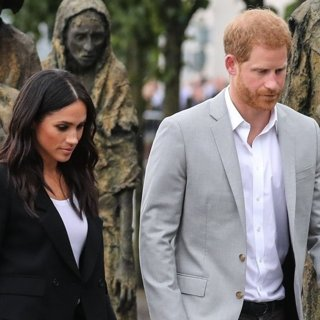 Meghan Markle, Prince Harry in The Duke and Duchess of Sussex Visit the Famine Memorial