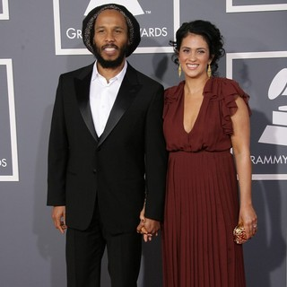 Ziggy Marley, Orly Agai in 55th Annual GRAMMY Awards - Arrivals