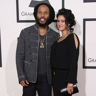 Ziggy Marley, Orly Agai in The 56th Annual GRAMMY Awards - Arrivals