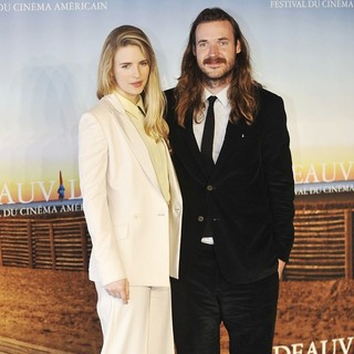 Brit Marling, Mike Cahill in 37th Deauville American Film Festival - Another Earth - Photocall