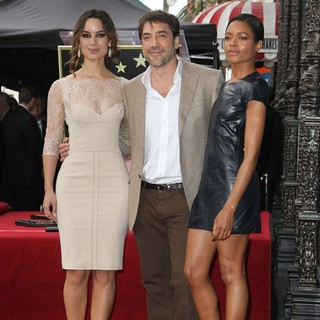 Berenice Marlohe, Javier Bardem, Naomie Harris in Javier Bardem Is Honored with A Hollywood Star on The Hollywood Walk of Fame