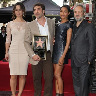 Berenice Marlohe, Javier Bardem, Naomie Harris, Sam Mendes in Javier Bardem Is Honored with A Hollywood Star on The Hollywood Walk of Fame