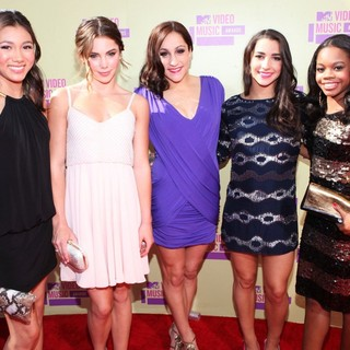 Kyla Ross, McKayla Maroney, Jordyn Wieber, Aly Raisman, Gabrielle Douglas in 2012 MTV Video Music Awards - Arrivals
