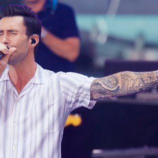 Adam Levine, Maroon 5 in Maroon 5 at The Today Show Toyota Concert Series