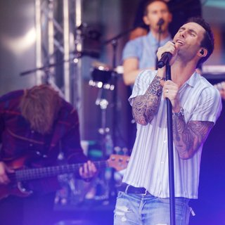 Michael Madden, Jesse Carmichael, Adam Levine, Maroon 5 in Maroon 5 at The Today Show Toyota Concert Series