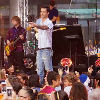 Michael Madden, Adam Levine, Maroon 5 in Maroon 5 at The Today Show Toyota Concert Series