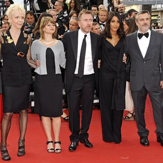 Tonie Marshall, Sylvie Pras, Tim Roth, Leila Bekhti, Luciano Monteagudo in Rust and Bone Premiere - During The 65th Annual Cannes Film Festival