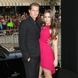Nick Marshall, Sophie Simmons in Getaway Los Angeles Premiere