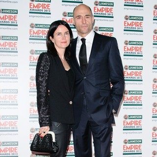 Liza Marshall, Mark Strong in The Empire Film Awards 2012 - Arrivals