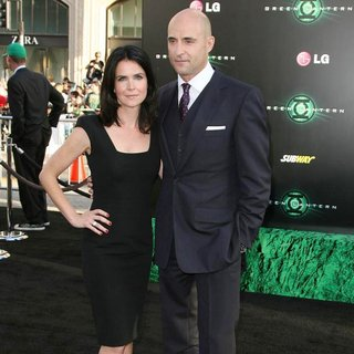 Liza Marshall, Mark Strong in Los Angeles Premiere of Warner Bros. Pictures Green Lantern