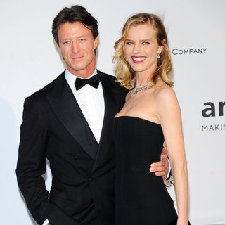 Gregorio Marsiaj, Eva Herzigova in amfAR 21st Annual Cinema Against AIDS During The 67th Cannes Film Festival