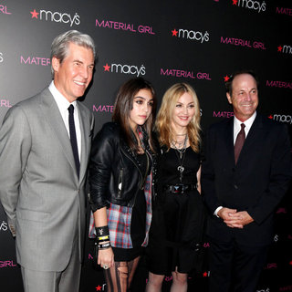 Terry J. Lundgren, Lourdes Leon, Madonna in 'Material Girl' Collection Launch