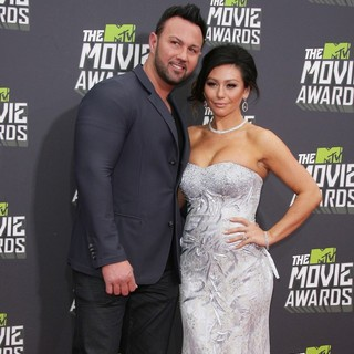 Roger Mathews, JWoww in 2013 MTV Movie Awards - Arrivals